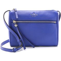 Kate Spade New York Cayli Cross Body Bag (3,305 MXN) ❤ liked on Polyvore featuring bags, handbags, shoulder bags, purses, bright lapis, leather handbags, blue shoulder bag, leather purse, leather cross body purse and crossbody purse