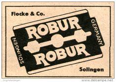 Original-Werbung/ Anzeige 1949 - ROBUR RASIERKLINGEN - ca. 45 x 35 mm