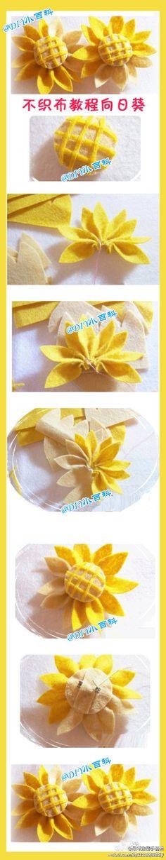 Free felt tutorial     How to make felt sunflower