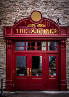 Kansas City Dubliner by JewelsMari, via Flickr. This is our favorite hangout in P&L. Try the Jameson Torte---amazaing!! House Entrance, Entrance Doors, Doorway, Shop Facade, Facade House, Storefront Signs, Pub Decor, Kansas City Missouri, Restaurants