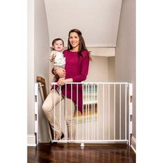 Tall Two Way Door Top-of-Stairs Safety Gate 2-in-1 Effortless to Swing Open. Top-of-stairs stroll through wellbeing door offers an inventive all inclusive establishment unit that fits 99-percent of all stairway applications. Simple development and capacity takes into account use in lobbies and on stairs.Basic Glide Technology permits this door to grow and contract from 26 to 42 inches wide. The Top Of Stairs 2-In-1 door stand 31 inches tall. This entryway likewise pulls specifically off…