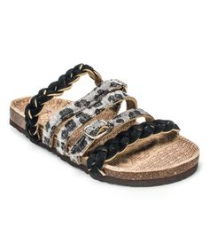 Look what I found on Gray Leopard Mary Strappy Suede Sandal - Women