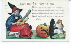 Whitney Made Slightly Embossed Halloween Postcard EX Condition | eBay