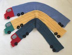 Child's Truck Scarf – Knitting ePattern Knitting pattern by Frugal Knitting Haus – Knitting patterns, knitting designs, knitting for beginners. Knitting Blogs, Knitting For Kids, Lace Knitting, Knitting Stitches, Knitting Projects, Knitting Patterns, Knitting Ideas, Crochet Baby, Knit Crochet