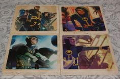 -5pc Coaster Set Upcycled from Kid Loki Comic Art by PopCycled, $35.00-  Must...resist...must...MUST...