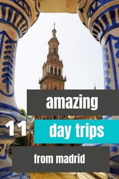 This list has eleven amazing day trips from Madrid that you can't miss! When you are looking for the best places to go for one day away from the capital city of Spain, this article has you covered for some amazing walled, medieval, and more. Read on for the top day trips from Madrid on your adventure in Spain! #madrid #daytrips #spaintravel