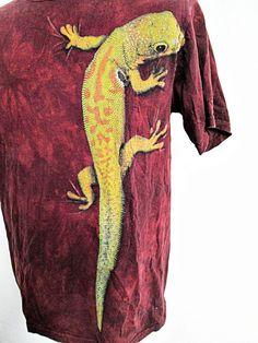 Vintage 1990s Classic RED Tie Dye Deadhead Hippy Festival T-Shirt Tee M