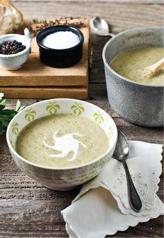 roasted broccoli and cauliflower soup!