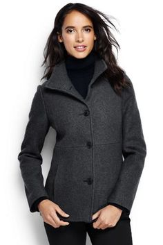 Women's Boiled Wool Parka from Lands' End | Thinking TOP ...