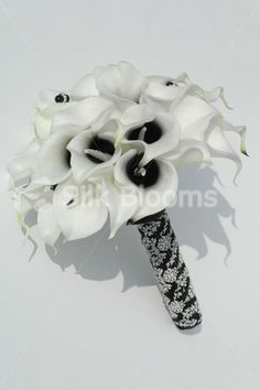 black cala lily bouquet | Black Bridal Bouquet with Beauty Calla Lilies Gorgeous White and Black ...