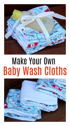 Baby Sewing Projects, Sewing Tutorials, Sewing Ideas, Sewing Tips, Sewing Baby Clothes, Washing Clothes, Baby Gifts To Make, Baby Washcloth, Simple Baby Shower