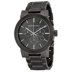 Burberry Brand New Chronograph Men's Dark Nickel Stainless Steel Watch BU9354