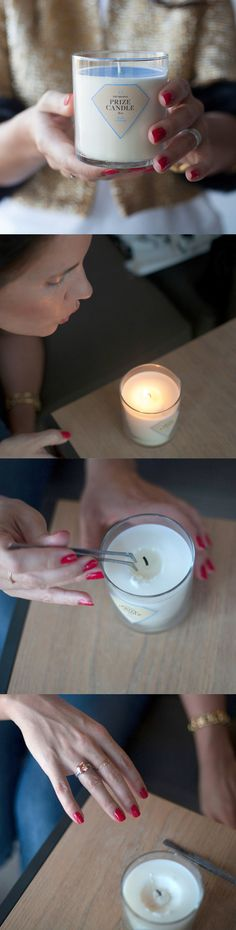 How cool is this?? A beautiful pieces of jewelry inside a candle!!