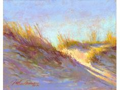 "Pastel artist Jack Pardue, PSA, ""Golden Light over the Dune"" 11x14, Pastel, SOLD"