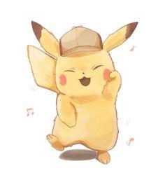 Detective Pikachu - Pokémon - Nintendo and Pokemon - Pikachu Drawing, Pikachu Art, O Pokemon, Cute Pikachu, Pokemon Fan Art, Pikachu Memes, Pikachu Tattoo, Pokemon Fusion, Pokemon Cards