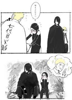 Boruto, Sasuke, Naruto, Sarada