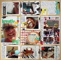 """Andrine og Marens Landhandleri - Blog - """"Kreativ jeg?"""" page created by Dt Linda. Project Life, Scrap, Baseball Cards, Pocket, Projects, How To Make, Blog, Inspiration, Log Projects"""