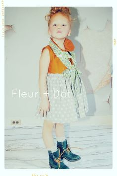 Little E for Fleur + Dot. Golden Girl Sleeveless Peter Pan Collar Dress. Spring Summer 13. Kids Fashion.