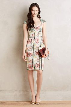 Brocade Garden Sheath - anthropologie.com - not crazy about the actual print, but it's a gorgeous design