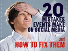 20 Mistakes Events Make on Social Media and How to Fix Them by Julius Solaris via slideshare Event Marketing, Affiliate Marketing, Social Media Marketing, Isabel Sanchez, Everyone Makes Mistakes, Business Events, Event Management, Trade Show, Boss Lady