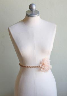"""gleaming heart sequin sash"""