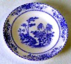 Decorative plate - Canton blue