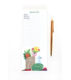 market list notepad by thimblepress