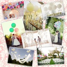 The power of balloons. Use balloons at your wedding/event for cost effective decorations. Simple, effective & beautiful.