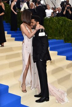 Selena Gomez and The Weeknd having a cute moment at the Met Ball