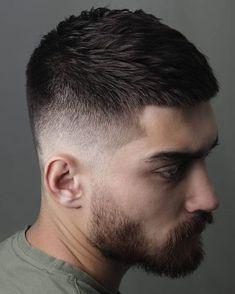 Men Short Hair Fade, Curly Hair Men, Mens Short Fade Haircut, Short Hair And Beard, Short Mens Cuts, Buzz Cut Hairstyles, Mens Buzz Haircuts, Short Hairstyles For Men, Hair And Beard Styles
