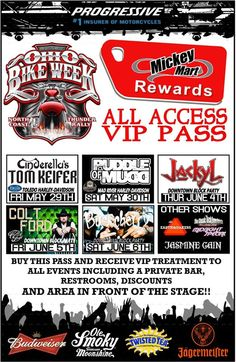 2015 Ohio Bike Week --- Dates are May 29 to June 7, 2015  $100 VIP Tickets- Price Goes to $125 May 1st or when the $100 Tickets Run Out  http://ohiobikeweek.com/all-access-pass.php   **PICTURES at blog.lightningcustoms.com/oh-bike-week/  #ohiobikeweek #ohiobikeweekdiscount #ohbikeweek #bikeweekohio