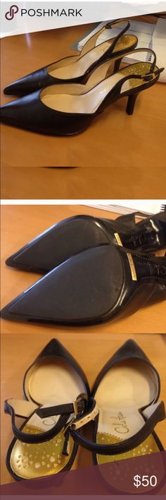 Cole Haan Nike Air sling backs. Size 6.5 Like new as seen by wear. Shoe was too small for me so they were worn a couple of times. Dark brown. Cole Haan Shoes Heels