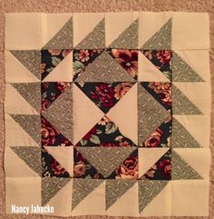 BOM Block One by Nancy Jahncke.  Designed by Monique Dillard of Open Gate Quilts for American Patchwork and Quilting, 2012