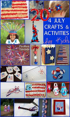 This is the most fun list of 4th July kids crafts & Fourth of July activities I have found. Fabulous ideas!