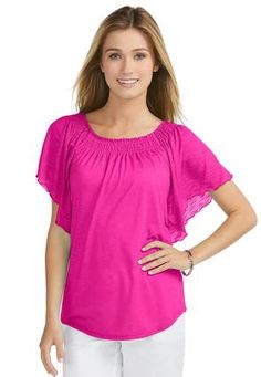 Cato Fashions Plus Size Angel Sleeve Lace Top Cato Fashions Flutter Sleeve