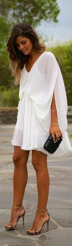 Little White Dress / Fashion By Trendy Taste