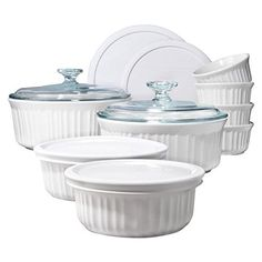 CorningWare 1094026 French 14-Piece Bakeware Set, White ** Details can be found by clicking on the image.