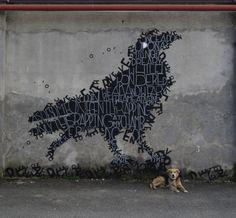 "Opiemme. Edgar A. Poe. ""The Raven"" Torino, Italy. (photo © Opiemme)"