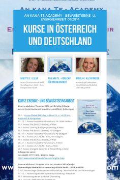 Kurse in Österreich und Deutschland - Termine im Jänner 2014 mit Brigitte E.Ilseja & Ursula V.Alltafander