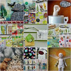 mano kellner, monatscollage oktober 2017, kreativ Collage, Monat, Advent Calendar, Mary, Holiday Decor, Home Decor, Painted Leaves, Waiting Staff, October