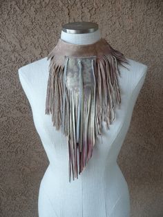 tan leather scarf, perfect for fall.