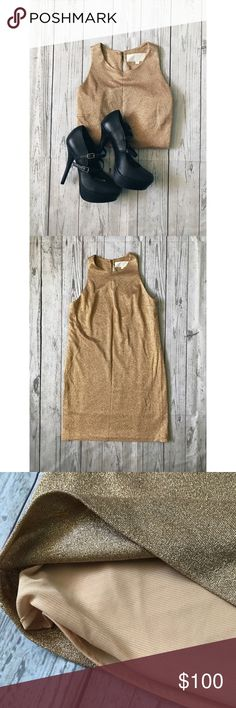 Laundry by Shelli Segal Dress Gorgeous gold glitter laundry by Shelli Segal Dress perfect for New Years! Hard to find dress! Laundry By Shelli Segal Dresses