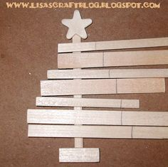 making slat Christmas trees   Tutorial: Wooden Slat Tree Ornament
