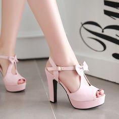 Cute Street Style Peep Toe Bow High Heel Sandals - O Yours Fashion - 6