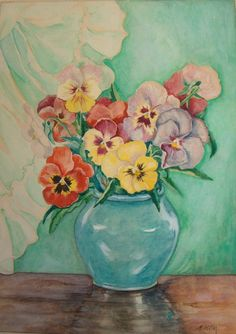 Large Colored Pansies, Adolf Hitler