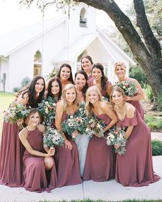 Top 7 Wedding Color Trends to Expect in 2020 cinnamon rose wedding bridesmaid dress Dusty Rose Bridesmaid Dresses, Bridesmaid Dresses Under 100, Dusty Rose Dress, Dusty Rose Wedding, Bridesmaid Dress Colors, Wedding Bridesmaids, Wedding Dresses, Colored Wedding Dress, Wedding Colors