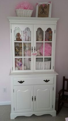 Repurposed China Cabinet Now Serves As A Piece Of Nursery Furniture!