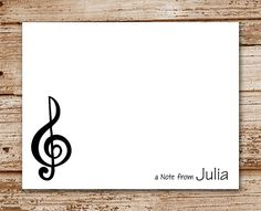 Music Notes Note Card Set music notes card Just a Note Note Card set Musical themed note card set musical card,
