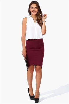 Enlarge ASOS Midi Pencil Skirt In Jersey | Wishlist | Pinterest ...