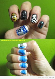 Star Wars nails. I need to find a nail salon to do this for me!